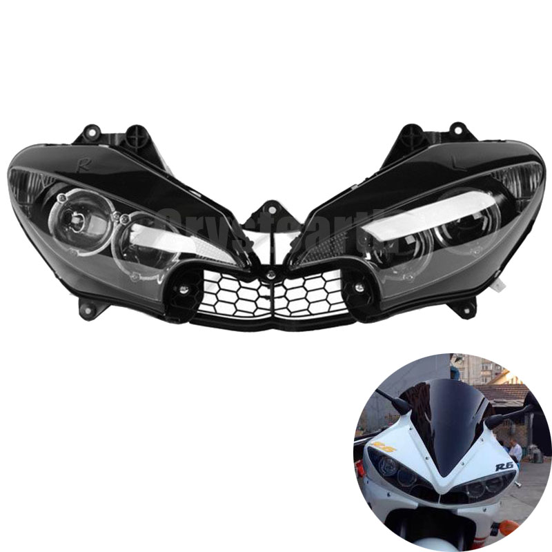 Pour Yamaha YZF R6 2003 2004 2005 YZF-R6 03 04 05 Moto Avant Head Light Phare Phare Assemblée Kit