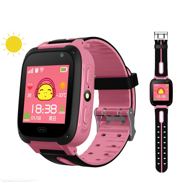 Kids Smartwatch gps watches blood pressure monitor SIM Card Call Tracker Child Camera SOS Anti-lost smart watches for children 1