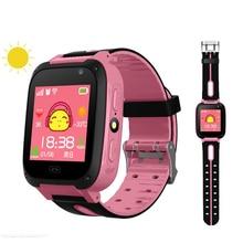 Dzieci Smartwatch gps monitor do monitorowania ciśnienia krwi SIM Card Call Tracker aparat dziecięcy SOS Anti lost inteligentne zegarki dla dzieci
