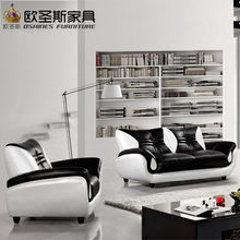 2017 new design italy Modern leather sofa ,soft comfortable livingroom genuine leather sofa ,real leather sofa set 321 seat 621A(China)