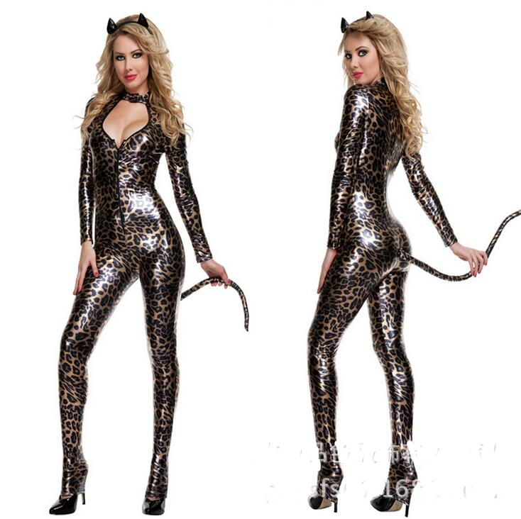 New Cat girl Costumes women sexy Leopard Cosplay Halloween catsuit Bar Nightclub bodysuits tail fantasia Club costume-in Sexy Costumes from Novelty ...  sc 1 st  AliExpress.com & New Cat girl Costumes women sexy Leopard Cosplay Halloween catsuit ...