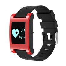 Tela HD Relógio Inteligente Identificar Pressão Arterial e Freqüência Cardíaca Esportes Nadar pulseira Pedômetro Monitor de Sono para IOS Android Smartwatch