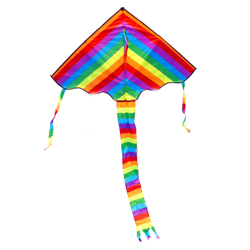 Купить с кэшбэком free shipping rainbow kites flying with handle line nylon ripstop outdoor toys easy open kids kite factory wholesale weifang