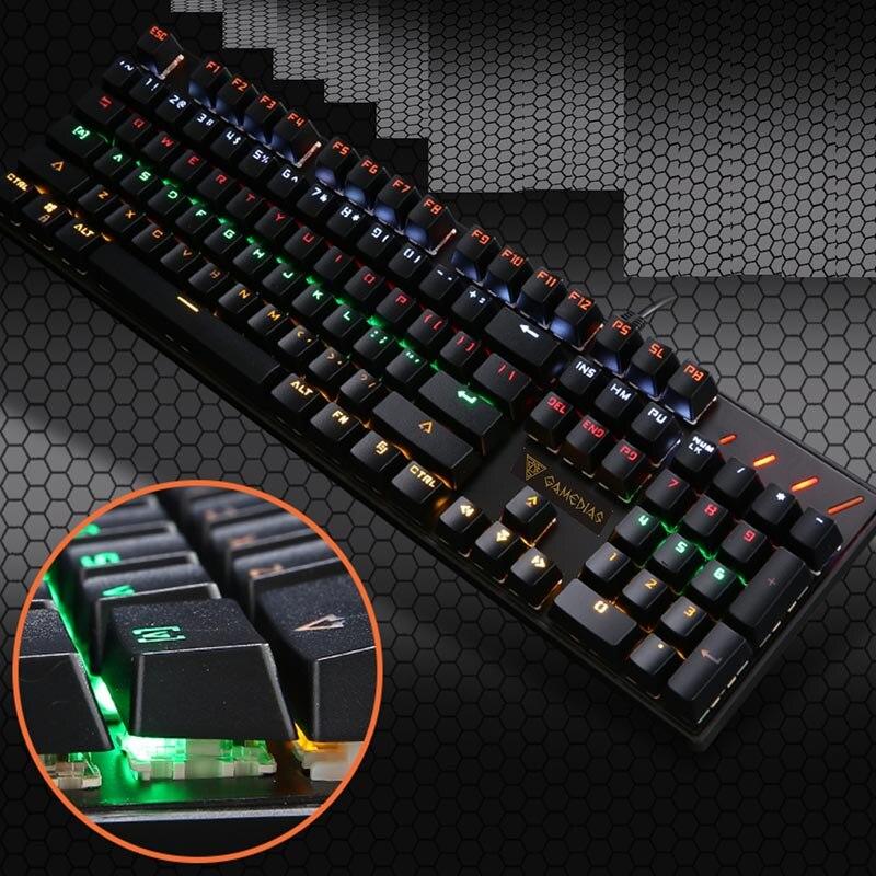 Mechanical Gaming Keyboard 104 Key Metal RGB Lighting Waterproof Wired USB For Computer Laptop XXM8 delog dy 703 waterproof usb wired 107 key gaming keyboard