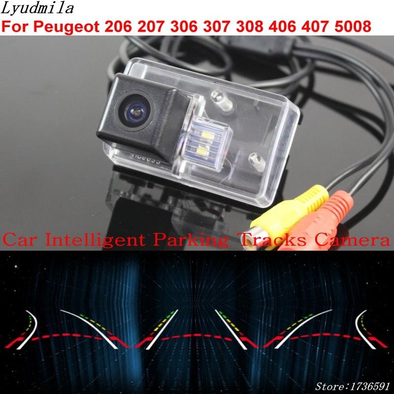 Lyudmila voiture Intelligent Parking pistes caméra pour Peugeot 206 207 306 307 308 406 407 5008 voiture sauvegarde caméra de recul
