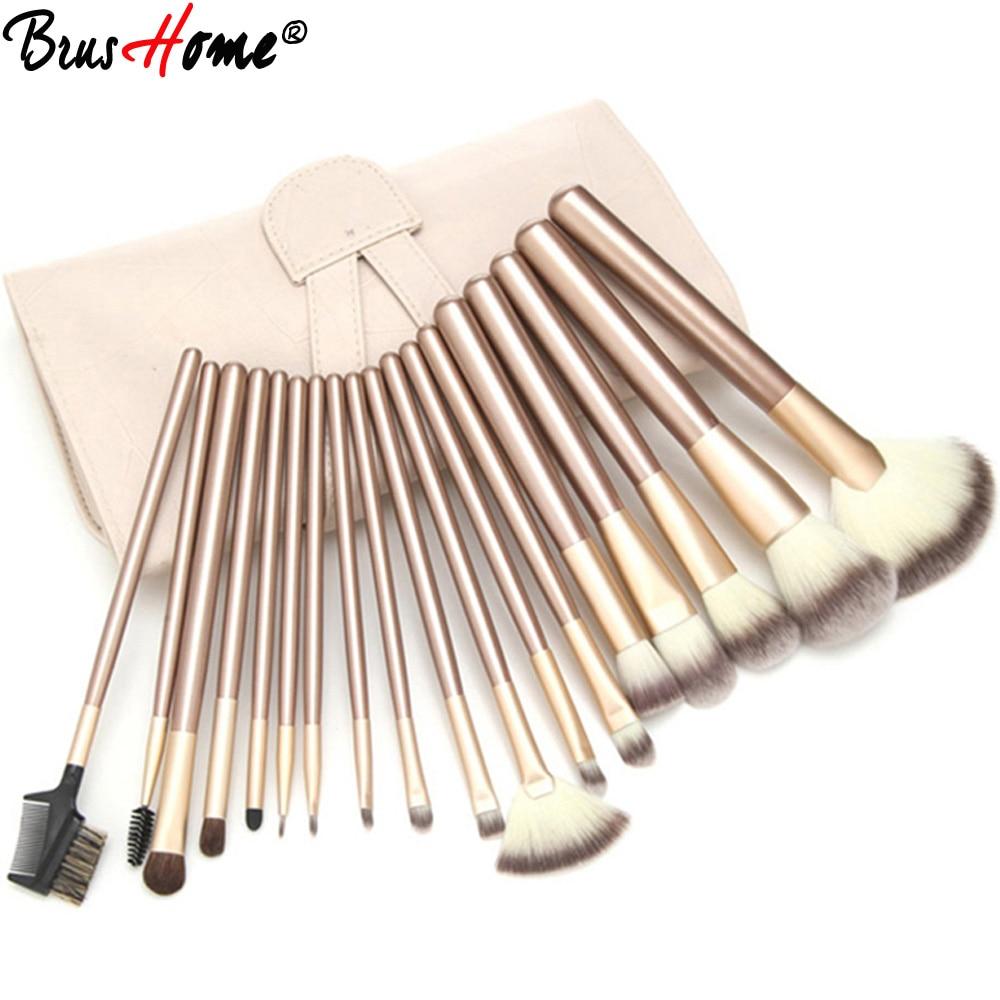 12/18/24pcs Professional Makeup Brushes Set Kit Woman Foundation Powder Eyeliner Lip Beauty Tool Powder Brush With Leather Case