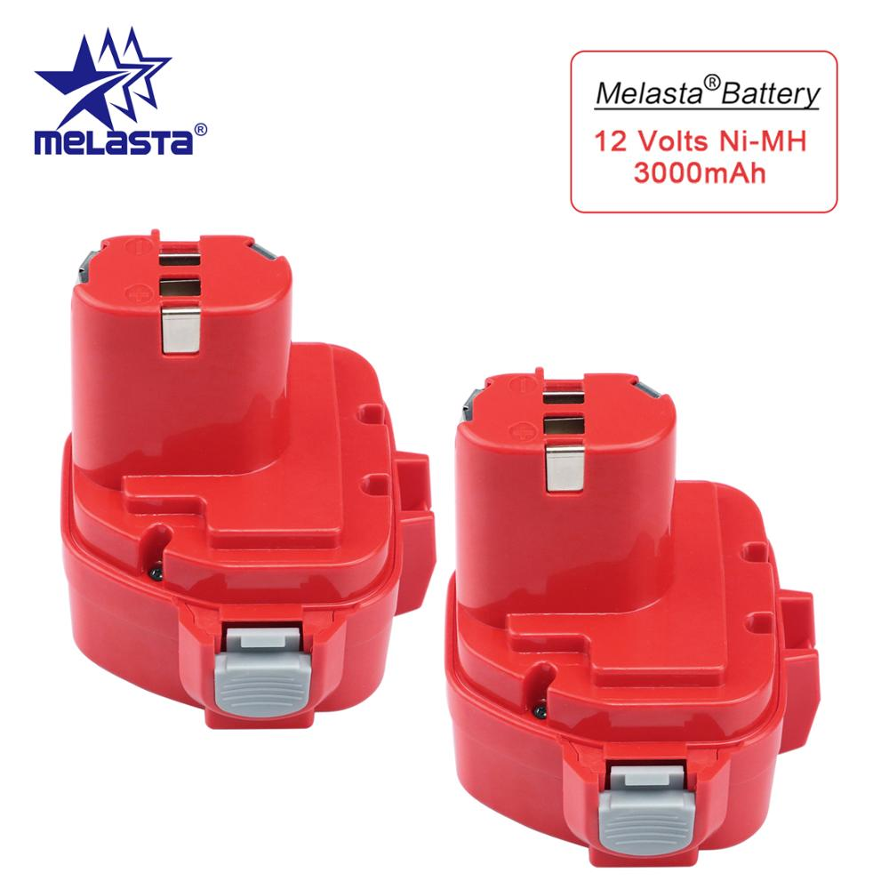 MELASTA 2pcs Upgrade <font><b>12v</b></font> <font><b>3Ah</b></font> NI-MH Replacement <font><b>Battery</b></font> for Makita 1220 PA12 1222 1233S 1233SA 1233SB 1235 1235A 1235B 192598-2 image