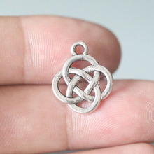 50 pcs  Ancient Silver Chinese Knot Charms Pendant 18X15mm Jewelry Findings