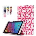 Folio PU cubierta de cuero de la cubierta protectora para Huawei m2 m2-801w m2-803l mediapad huawei m2 8.0 tablet case + free regalo