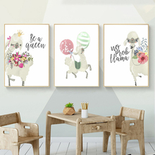 Cute Animals Nursery Wall Art Canvas Painting baby Kids Room Decor Nordic Poster Cartoon Wall Pictures For Living Room Unframed цена и фото