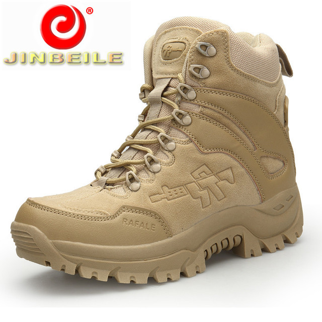 JINBEILE Lace-up Hiking Shoes Men Durable & Non-slip Outsole Walking Sneakers Men Comfortable Insole Men Outdoor Sports Shoes