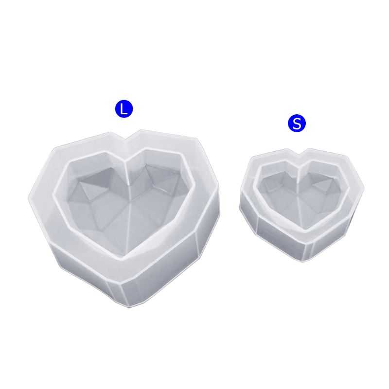 Silicone Mold Geometric Heart Shape DIY Jewelry Making Epoxy Resin Molds Handmade Decoration Pendant Ornaments Accessories