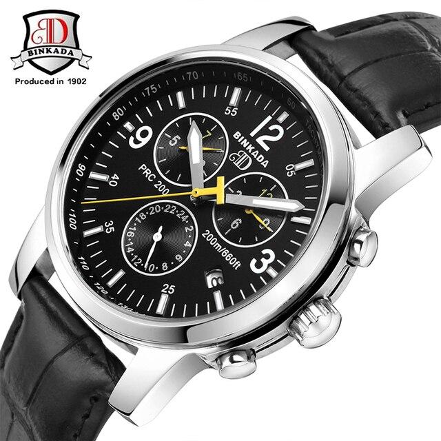 Original BINKADA Men Mechanical Watches Men Luxury Brand Full Steel High Qaulity Business Automatic Wristwatches For Men
