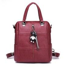Повседневная Женская Рюкзак из мягкой искусственной кожи в духе колледжа школьные рюкзаки для девочек-подростков Женская дорожная сумка Mochila Femininas