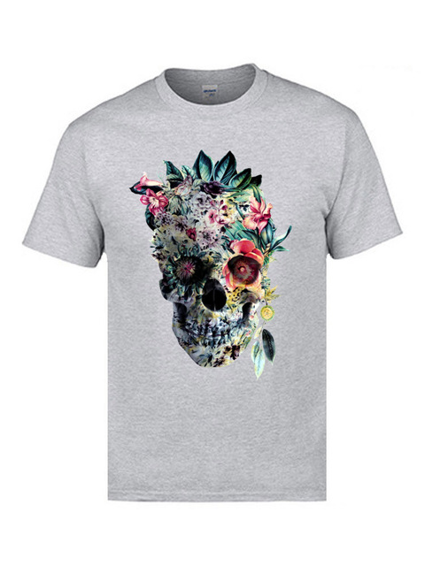 Voodoo Flower Skull Short Sleeve Casual Top 4