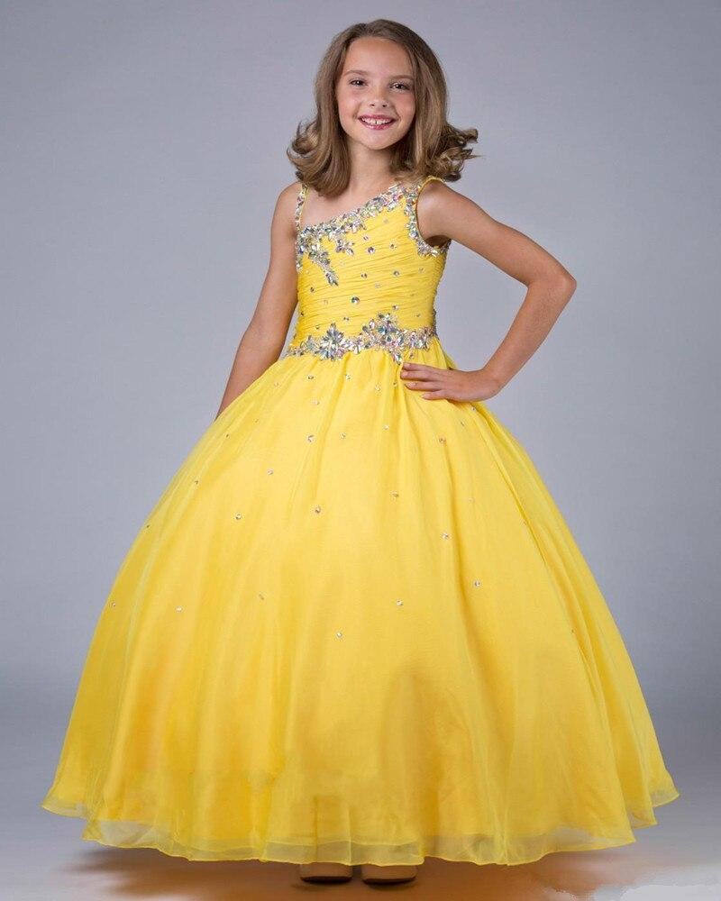 Детские бальные платья желтый