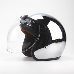 Free shipping new personalized fashion chrome cascos capacete motorcycle helmet 3/4 open face vintage scooter jet helmets
