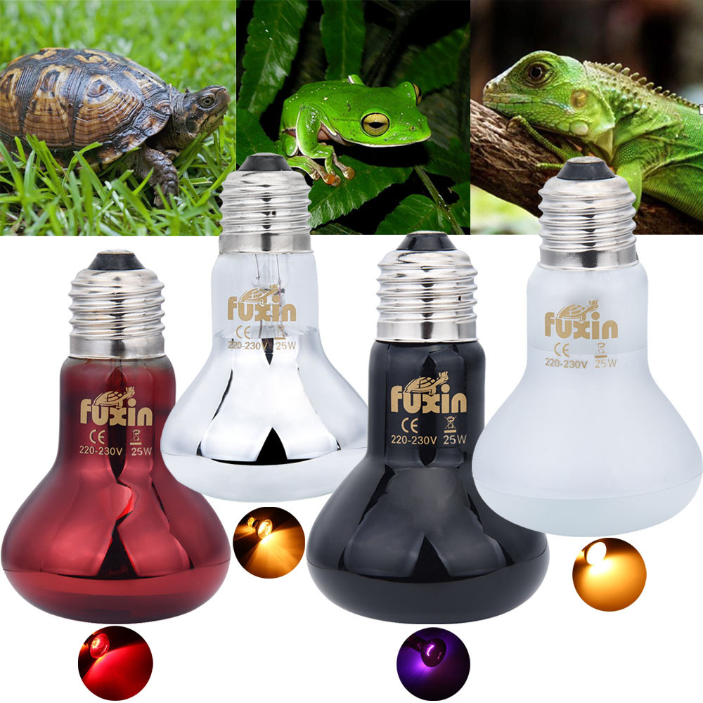 Pet Heating Lamp Uva Day Night Amphibian Amphibian Snake Lamp Heat Reptile Bulb Light 25w 50w 100w Ac220-240v Dropshipping