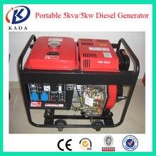 5KVA с воздушным охлаждением Дизельная генераторная установка с открытым Тип однофазный, дизельный генератор 5KW 220 V 50 HZ 1500 об/мин