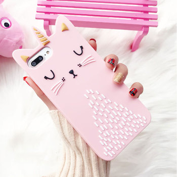 Pink Caticorn Case For iPhone
