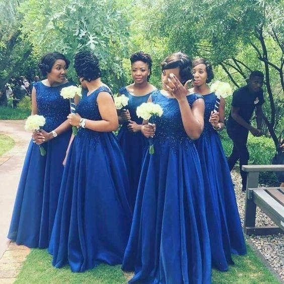 Long Wedding Party Guest   Dress   Woman Plus Size Royal Blue   Bridesmaid     Dresses