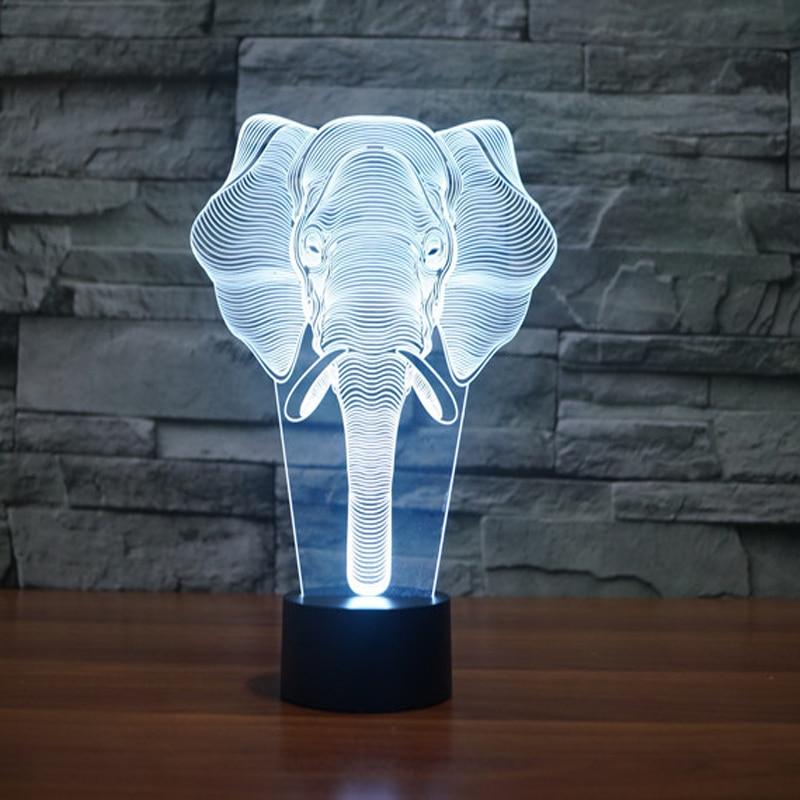 Animal Elephant Night Light Designs LED Table Lamp Romantic Night Lighting 7 Color Changing Led Lights