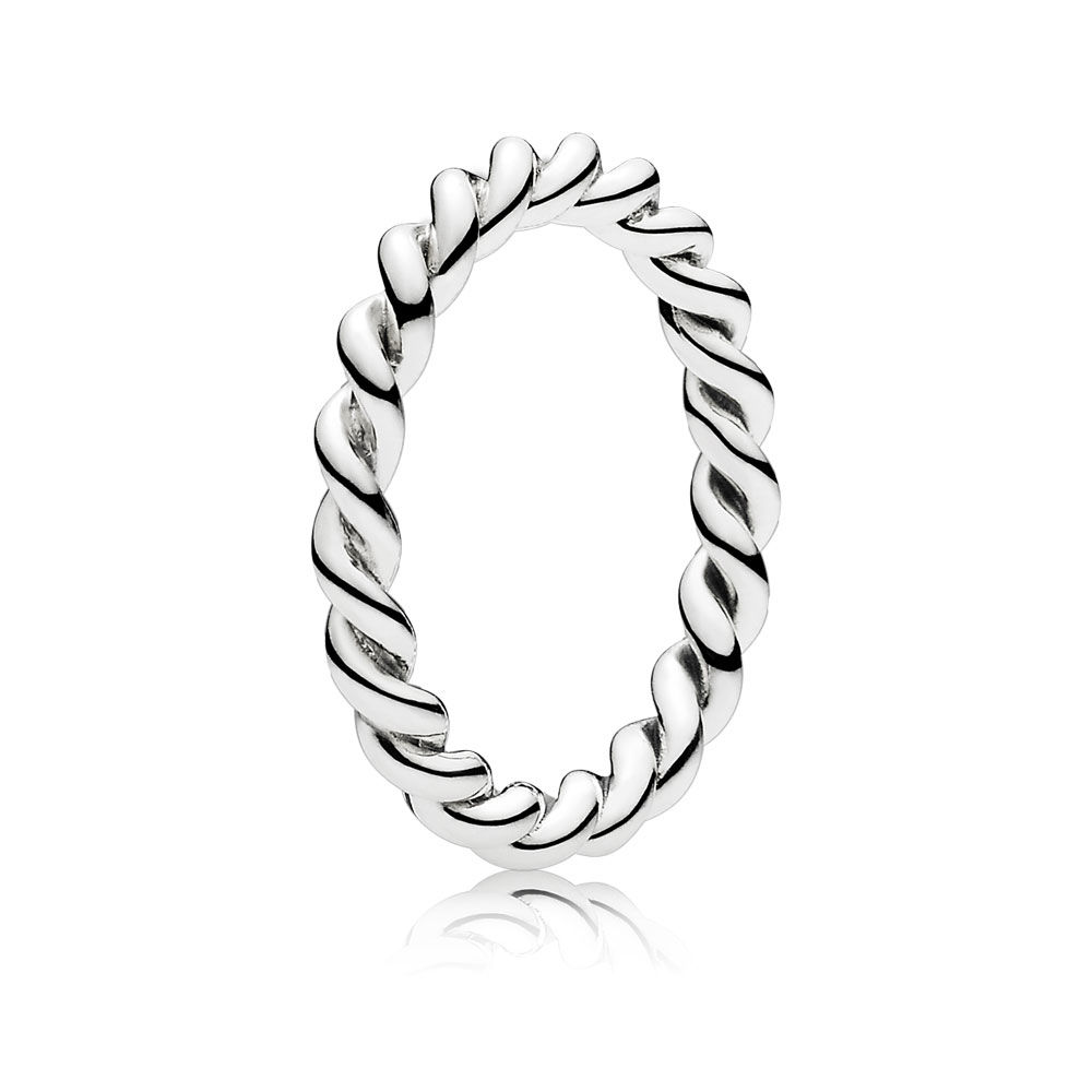 CHAMSS 2019 Years New 925 Sterling Silver Twisted Stacking Ring Girlfriend Anniversary Fashion Joker Jewelry Gifts Free Shipping(China)