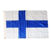 Флаг Финляндии 3 фута * 5 фута 90*150 см Бандера полиэстер летающий