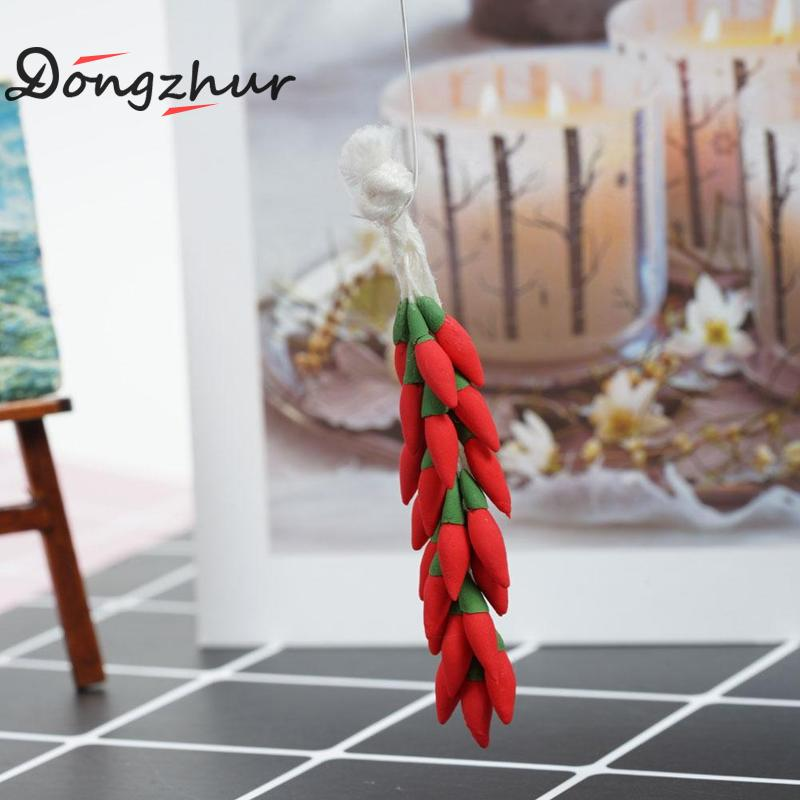 Toys & Hobbies Dolls & Stuffed Toys 1:12 Dollhouse Miniature Vegetable Skewer Mini Model Clay Hand Pepper String Garlic String Doll House Decoration Accessories Low Price
