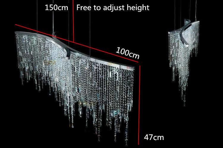 Led Italia Lampu Liontin kristal mewah ruang model setelah sederhana Nordic bedroom restoran kristal lampu yang modern