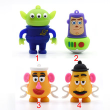 USB flash dyski toy story kosmici-drzewno-4 GB usb2.0 8G 16G 32 GB 64 GB pen drive pendrive u dysku pendrive pan/pani. potato Head(China)