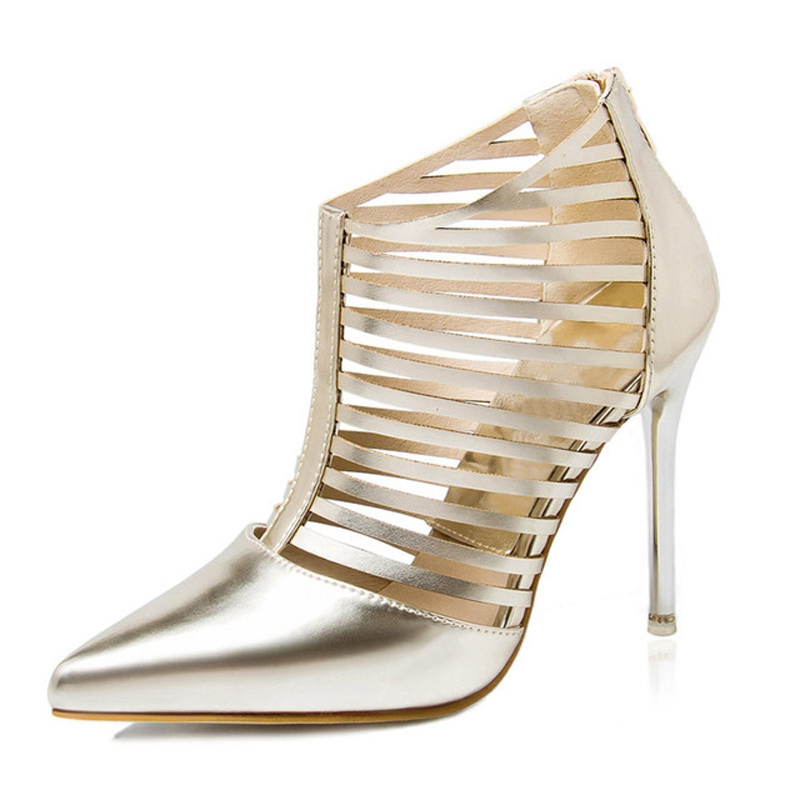 Xemonale Summer Sexy High Heels 2016 Gladiator Sandals Platfform Shoes Woman Elegant Pointed Toe Pumps Gold Silver Women Shoes phyanic 2017 gladiator sandals gold silver shoes woman summer platform wedges glitters creepers casual women shoes phy3323
