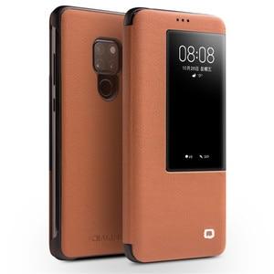Image 5 - QIALINO יוקרה אמיתי עור Flip Case עבור Huawei Mate 20 אופנתי בעבודת יד Ultra Slim כיסוי עם תצוגה חכמה עבור Mate 20 פרו