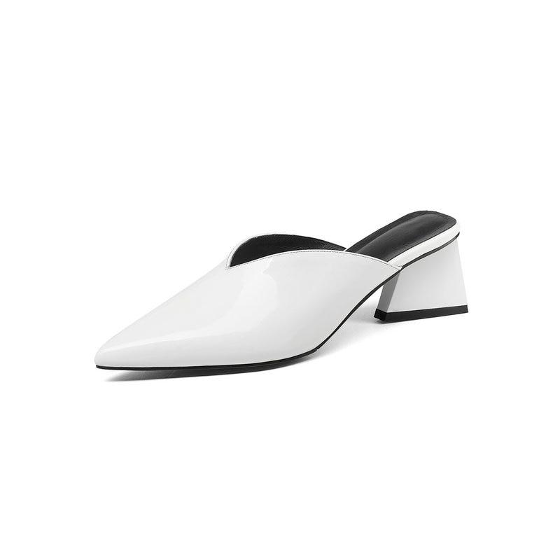 Wysokie obcasy damskie buty Pointed Toe panie pantofel lato modne Party Prom wygodne damskie buty w Kapcie od Buty na  Grupa 3