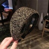 Fashion Luxurious lace flowers Hair Hoop Headband Hairband for Women Girls Broad edge Bohemia Hair Band Hair Accessories