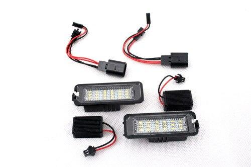 ФОТО LED License Plate Lights (W/ CANBUS Load Resistors) For VW Volkswagen Golf MK6 / MK7