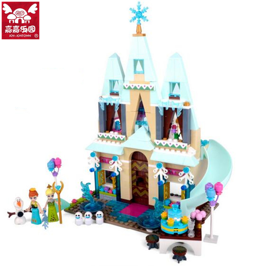 519pcs Friends Series Brand Compatible Princess Ice Castle Building Blocks Anna Elsa Assembly Figures Toy for Girls Gift