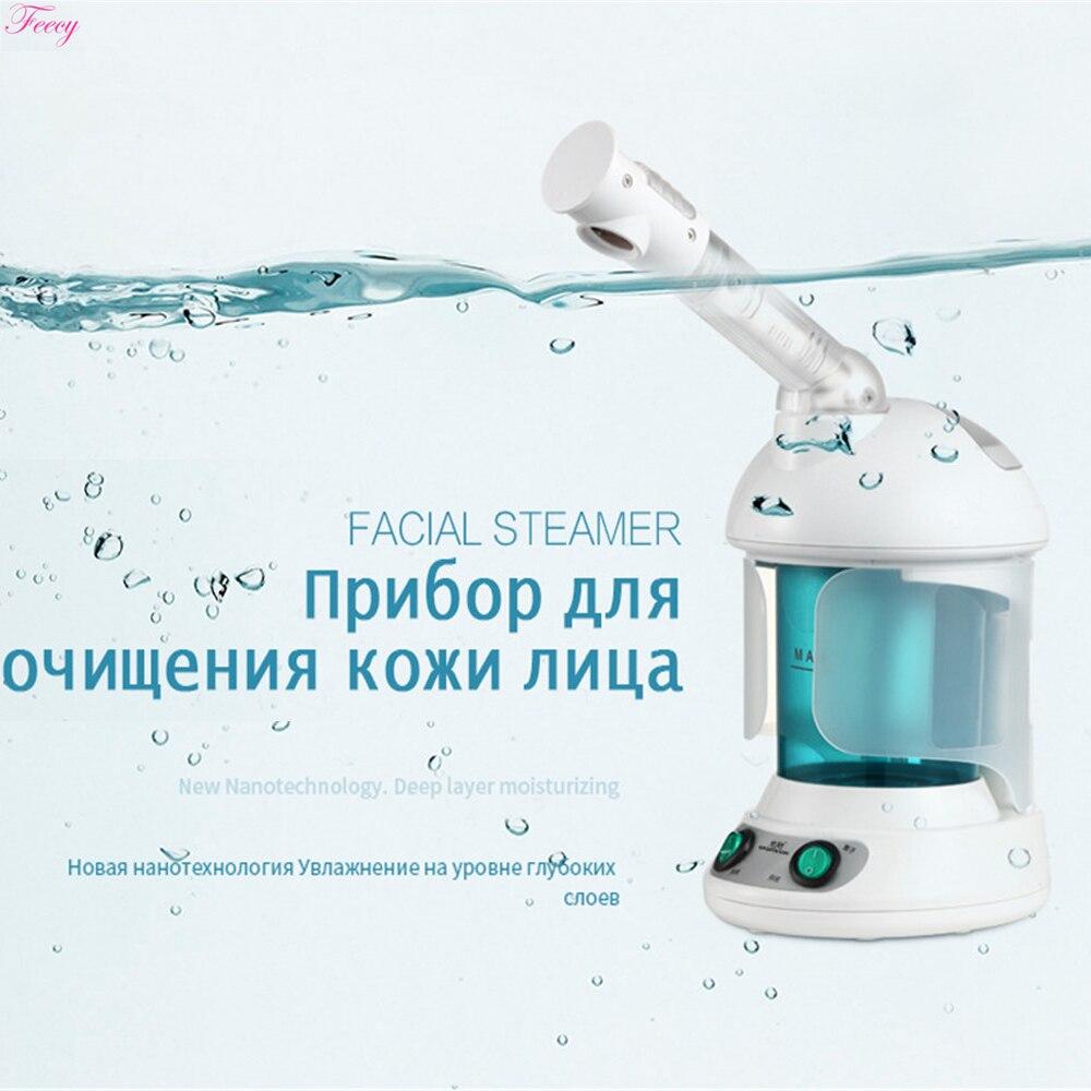 Отпариватель для лица с горячим туманом, увлажнитель для отпаривания кожи, стерилизация озоном, ароматерапия, отпариватель для лица