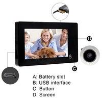 4 3 LCD Display Video Door Phone With 145 Degree PIR Motion Detector LED NightVersion Smart