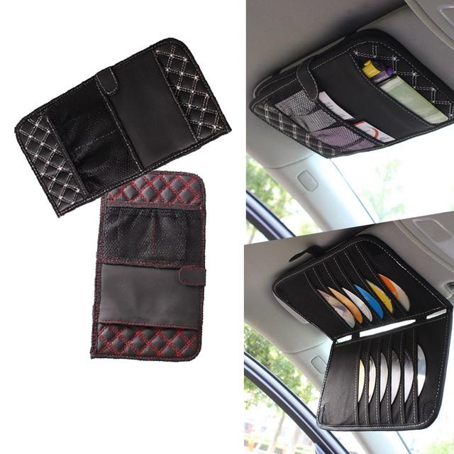 Dongzhen Car CD Bag DVD Disk Card Holder Cases Auto Sunshade Sun Visor Storage Bags Folder  sc 1 st  AliExpress.com & Dongzhen Car CD Bag DVD Disk Card Holder Cases Auto Sunshade Sun ...
