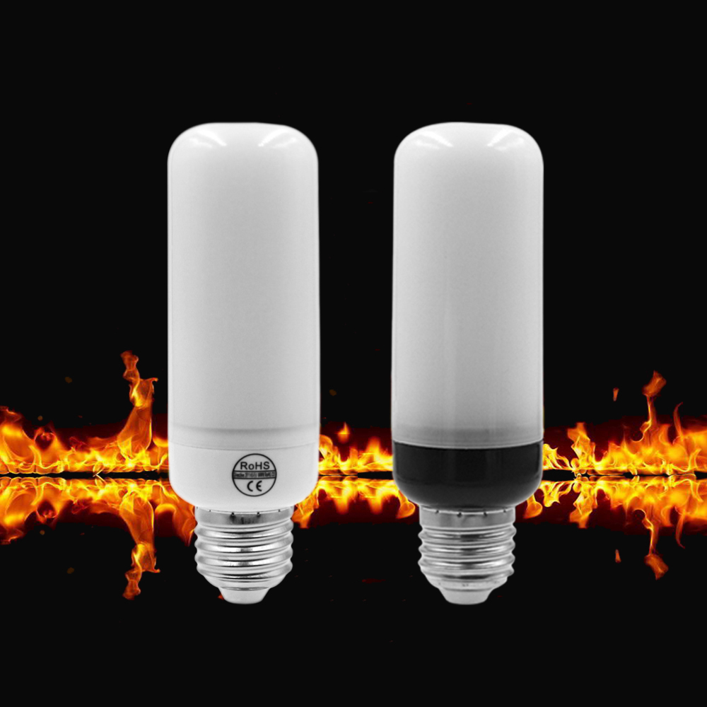 ETONTECK LED Flame Lamp E27 E26 E14 AC85-265V Flame Effect Fire Light Corn Bulb 5W 2835 LED Flickering Emulation flame Lights 5w 2835 smd led lamp bulb e27 e26 1800k yellow flickering flame flame effect fire light bulbs ac85 265v bb speaker