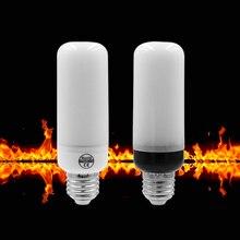 ETONTECK LED Flame Lamp E27 E26 E14 AC85-265V Flame Effect Fire Light Corn Bulb 5W 2835 LED Flickering Emulation flame Lights