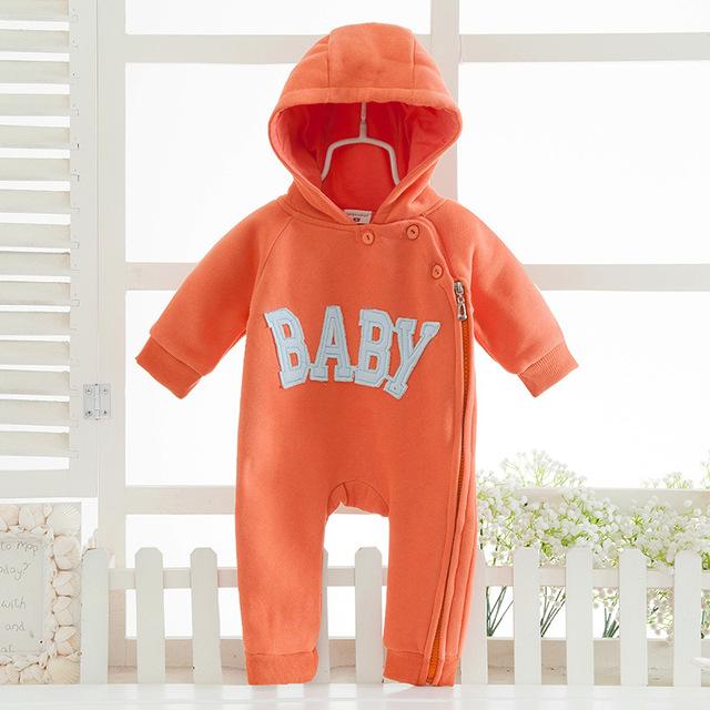 """2016 Bebê Recém-nascido Roupas letra """"bebê"""" One Piece Manga Comprida Doce Roupa Roupas Bebê Recém-nascido Romper Traje Do Bebê"""