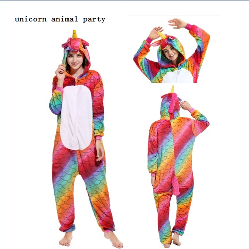 Detail Feedback Questions about Cosplay halloween Kigurumi Fish scales  unicorns onesies zipper color Adult Unisex Hooded Winter Flannel Animal  Dropshipping ... 7b1e59594