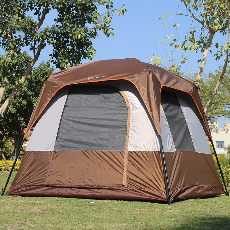 New arrivals kakhi color square high 190cm waterproof outdoor camping tent pergola with top anti-rain cover,double layer doors high quality outdoor 2 person camping tent double layer aluminum rod ultralight tent with snow skirt oneroad windsnow 2 plus