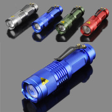 Mini Q5 LED Torch 7W 300LM Flashlight Light Lamp By 14500 /AA Batteries High Quality Best Selling VE263 P0.3