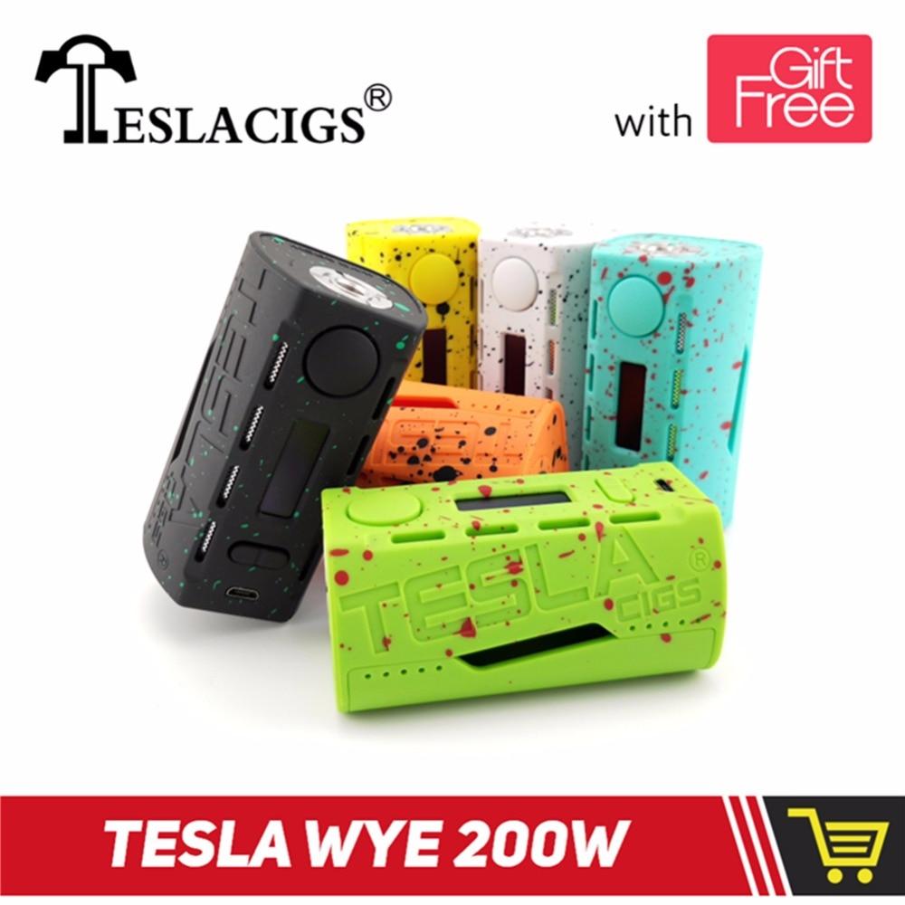 Original TESLACIGS Tesla WYE 200W Electronic Cigarette Box Mod vape mod VS  ijoy squonk mod smoant cylon 18650 mechanical mod-in Electronic Cigarette  Mods ...