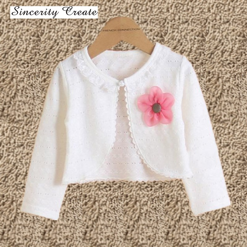 Hot Fashion Thin Cotton Cardigan For Girls Full-Sleeve Girls Cardigan Shrug 2-10T Girl Clothing Sweaters Spring Summer KC-1507