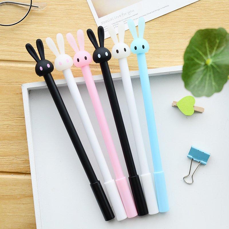 4Pcs/Lot New Cute Rabbit Gel Pen Writing Pens Stationery Caneta Material Escolar Office School Supplies Papelaria
