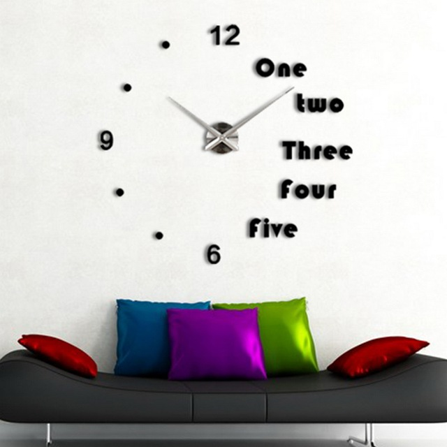 Luxury Wall Clock Living Room Diy Sticker Creative Watch Modern Metal Acrylic Mirror